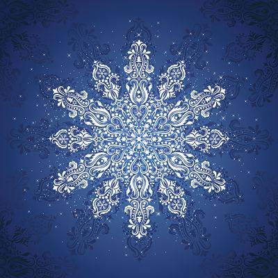 Moda Panel - Gradients Holiday Panel Blue Ice Snowflake