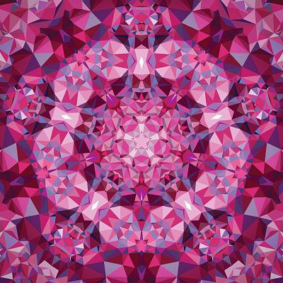 Moda Panel - Gradients Kaleidoscope Pink Flower