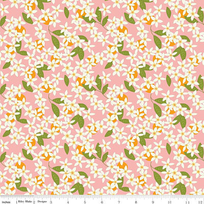Riley Blake Yardage - Grove Blossoms Grapefruit by Jill Finley