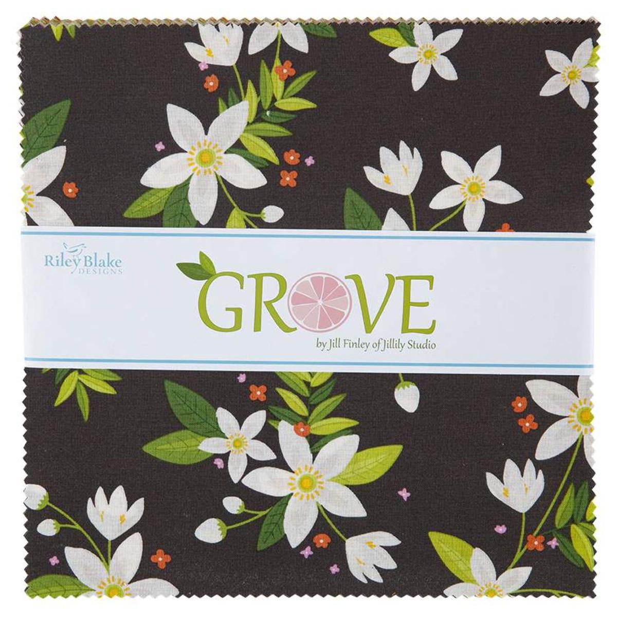 Riley Blake Layer Cake - Grove by Jill Finley