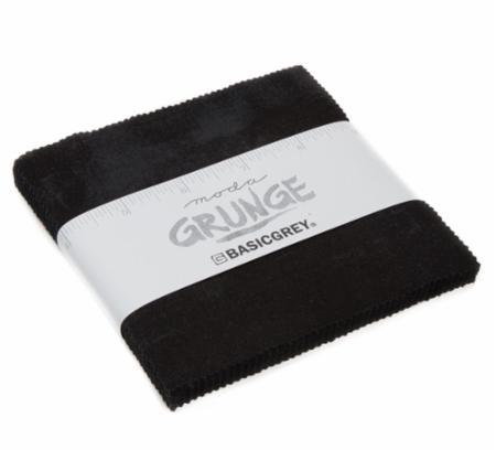 Moda Charm Pack - Grunge Onyx