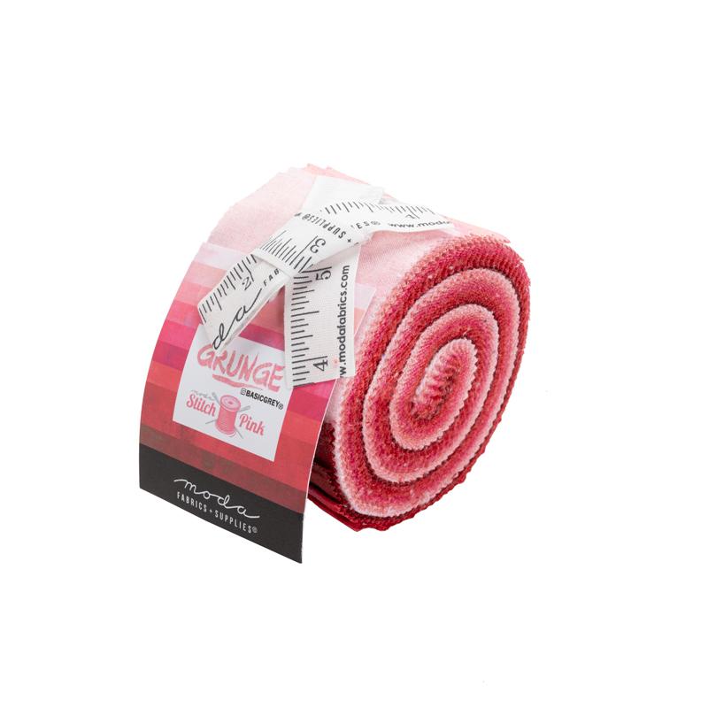 Moda Junior Roll - Grunge Stitch Pink
