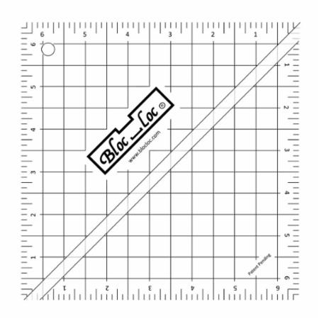 Half Square Triangle Ruler 6.5 Inch