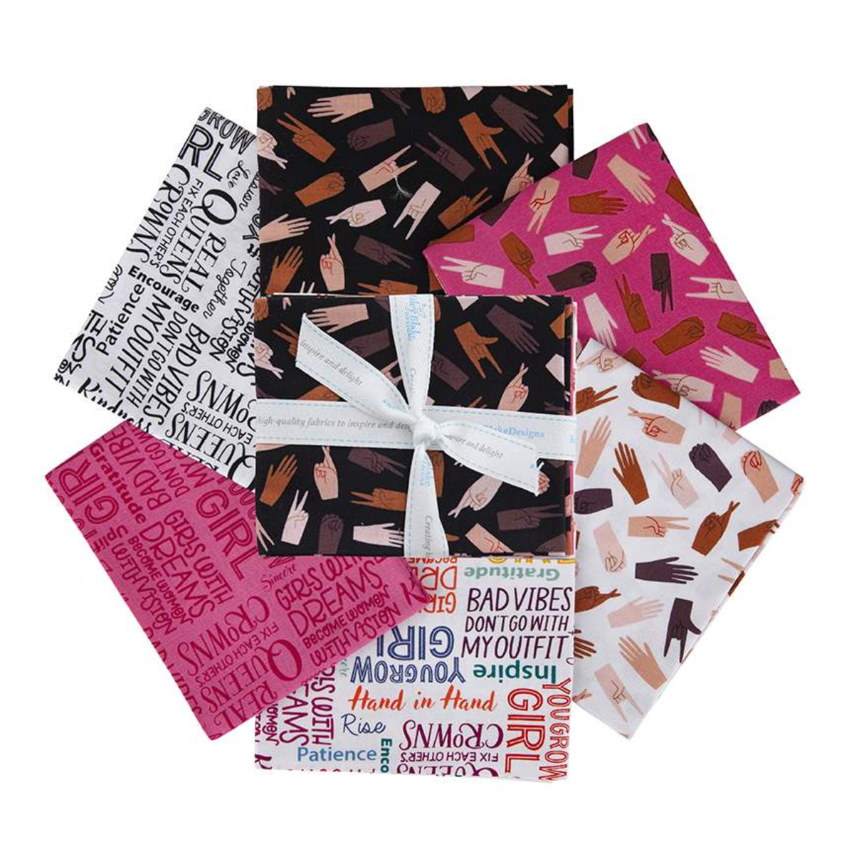 Riley Blake Fat Quarter Bundle - Hand in Hand