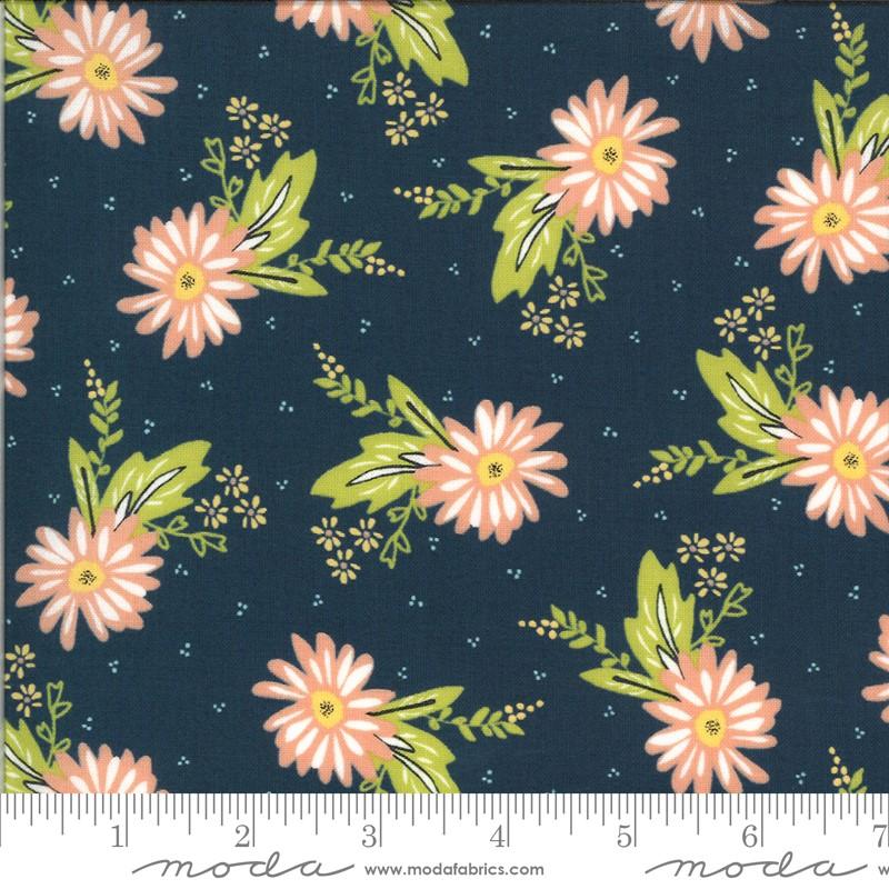 Moda Happy Days Carnation Navy 37600 20 Yardage