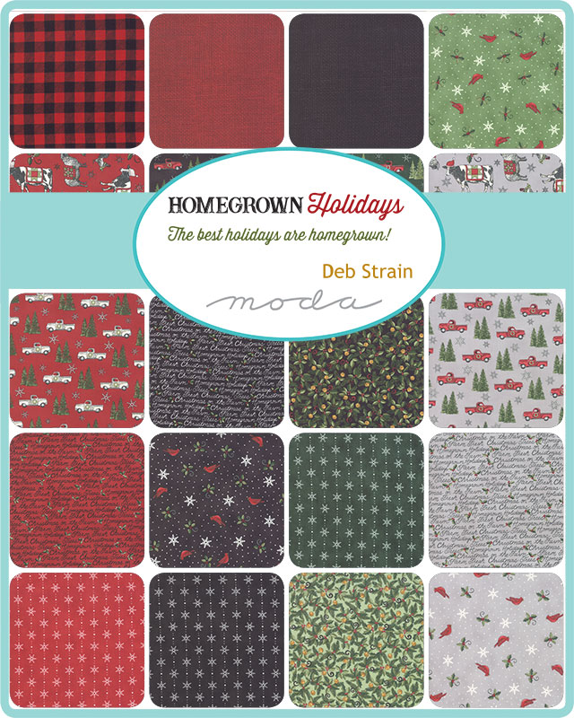 Moda Fat Quarter Bundle - Homegrown Holidays by Deb Strain