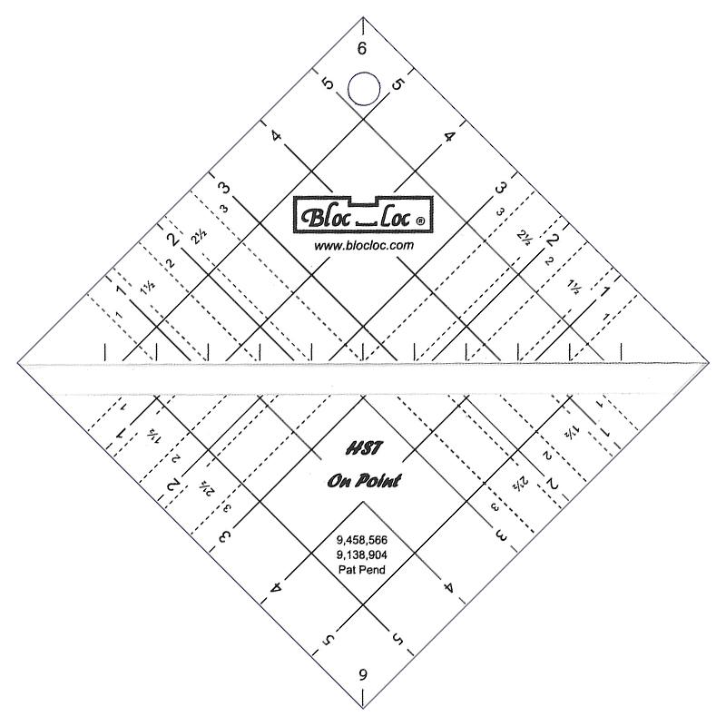 Half Square Triangle On Point 6 Inch Bloc Loc