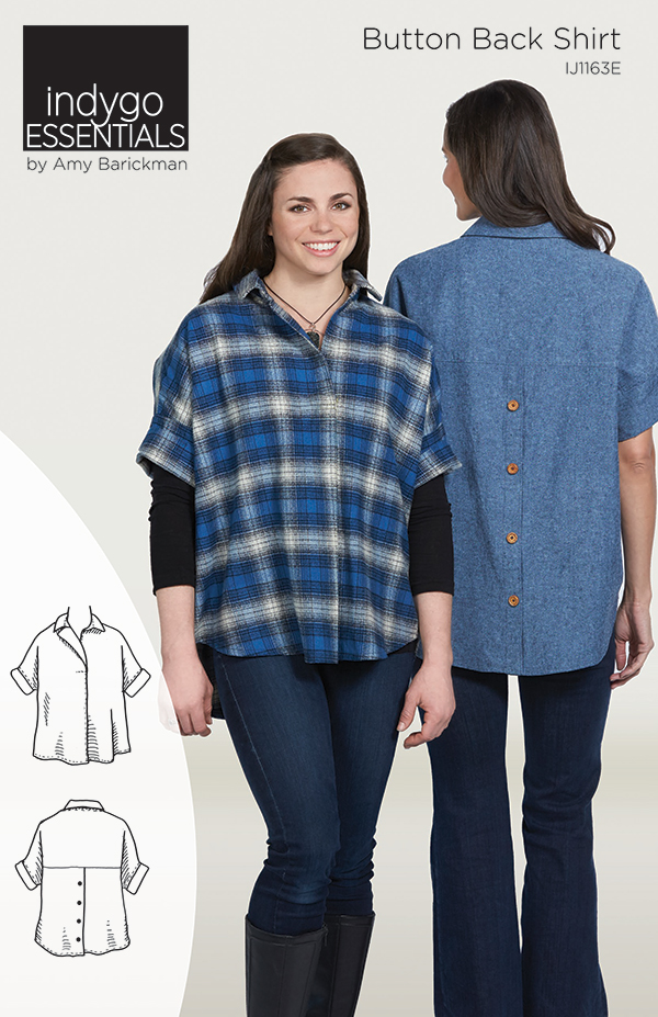 Indygo Essentials - Button Back Shirt