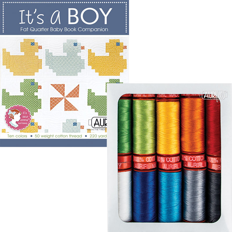 Its A Boy Collection 50wt Aurifil Small Spools