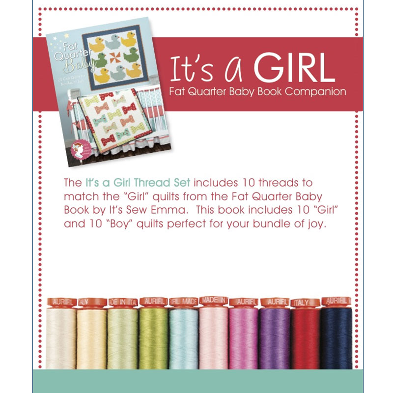 Its A Girl Collection 50wt Aurifil Small Spools