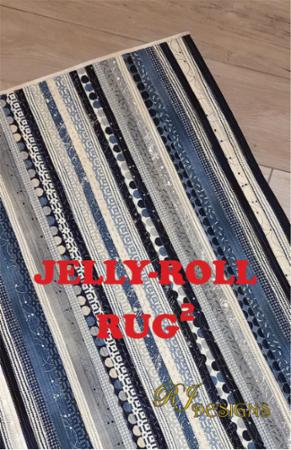 vJelly Roll Rug TWO Pattern
