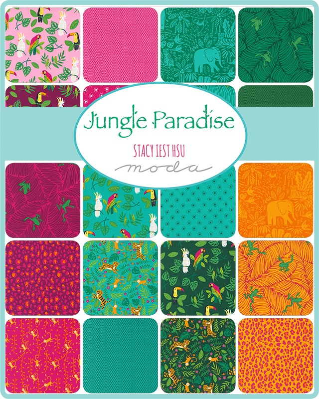 Moda Charm Pack - Jungle Paradise by Stacy Iest Hsu