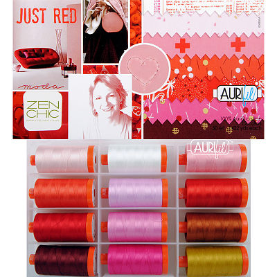 Just Red 50wt Aurifil Large Spools