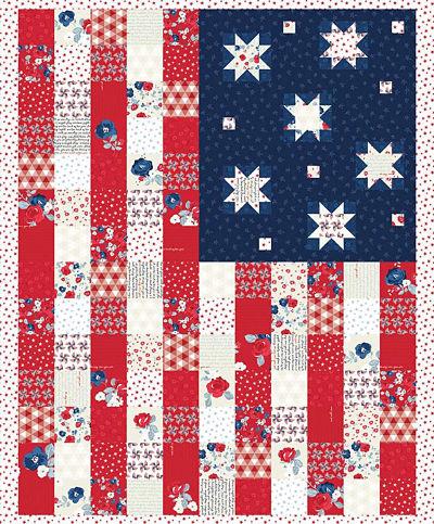 Riley Blake Land of Liberty Flag Panel