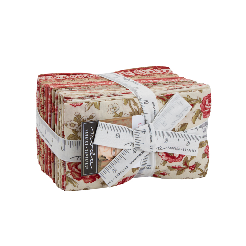 Moda Fat Eighth Bundle - La Rose Rouge by French General