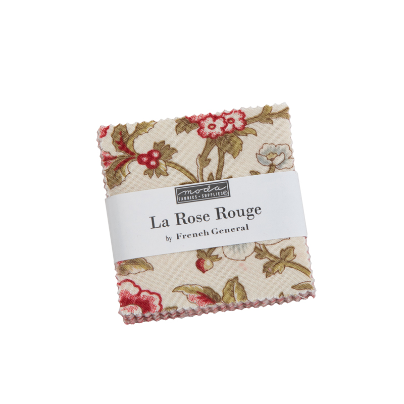Moda Mini Charm - La Rose Rouge by French General