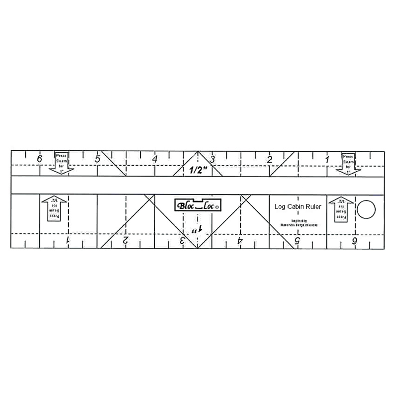 "Log Cabin Bloc Loc Ruler 2"" & 3"""