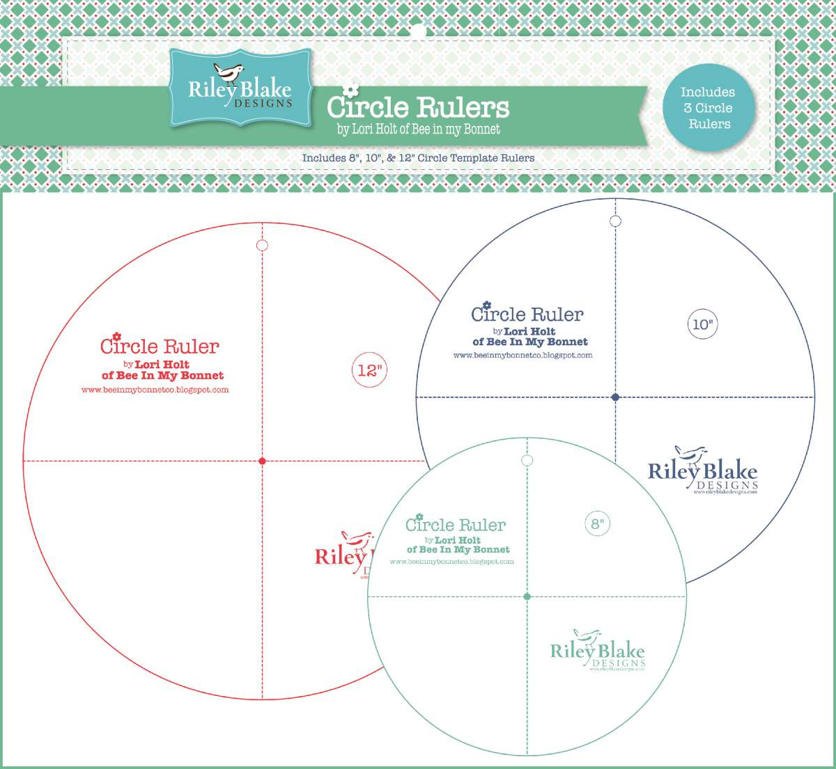 Lori Holt Circle Ruler Set