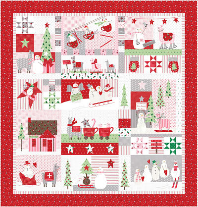 Moda Kit - Merry Merry Snow Days by Bunny Hill Designs