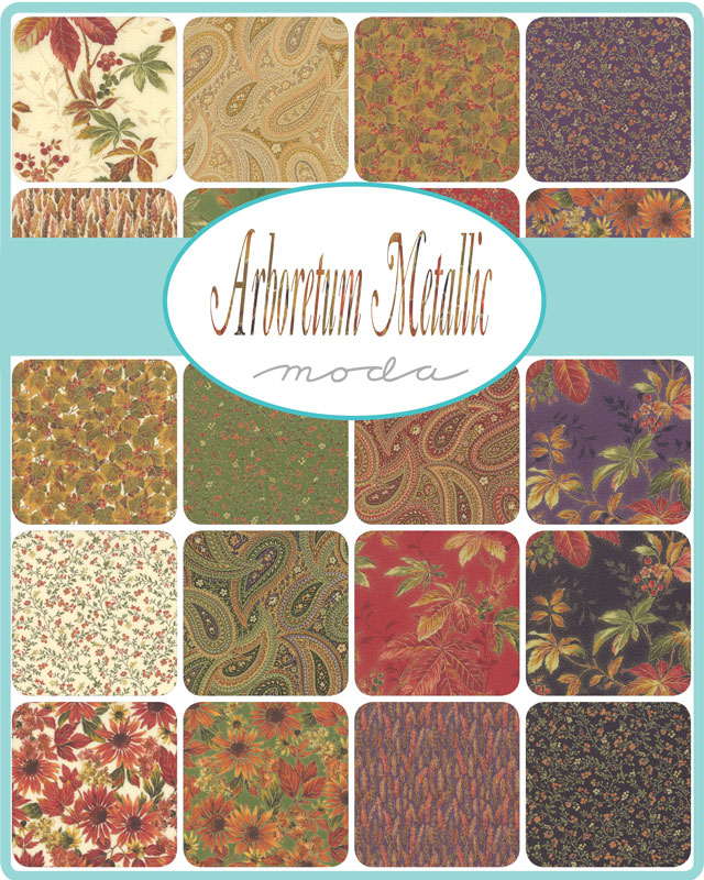 Moda Fat Quarter Bundle - Arboretum Metallic by Moda