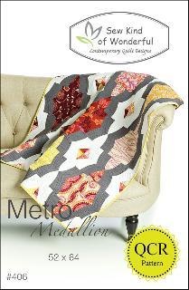 Metro Medallion Quilt Pattern by Jenny Pedigo