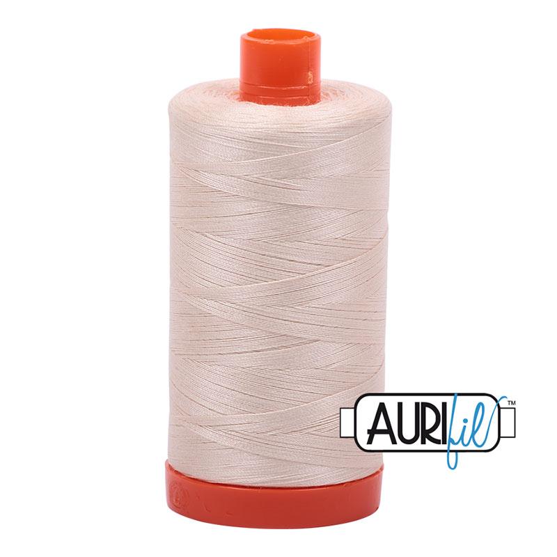 Cotton Mako Spool 50wt 2000 Aurifil - Lite Sand