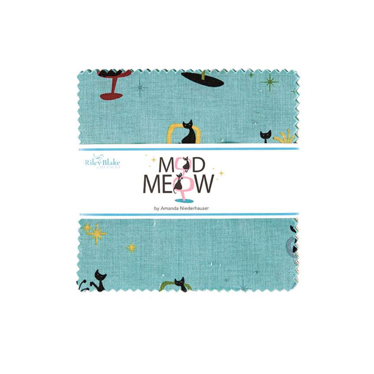 Riley Blake Charm Pack - Mod Meow by Amanda Niederhauser