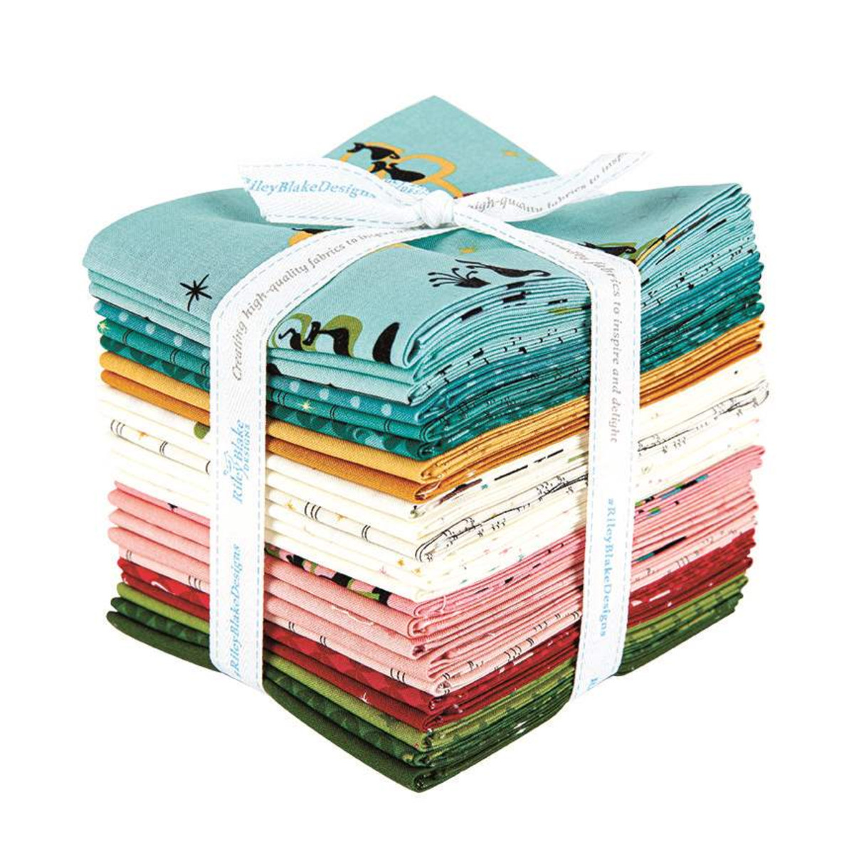 Riley Blake Fat Quarter Bundle - Mod Meow by Amanda Niederhauser