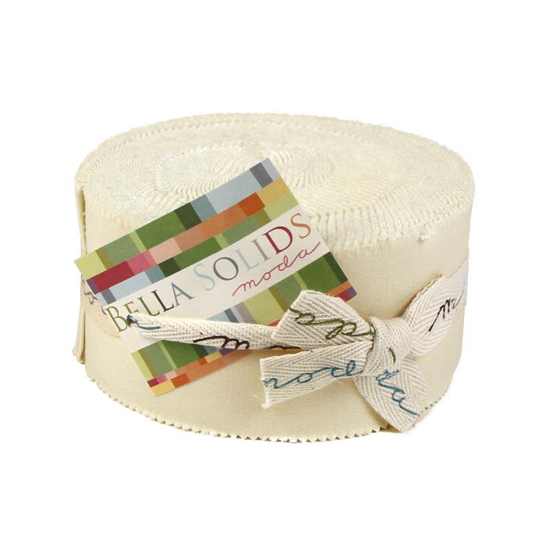 Moda Bella Solids Jelly Roll - Natural (9900 12)