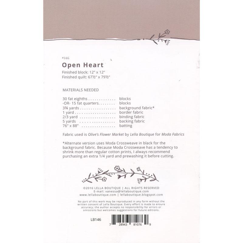 Open Heart Pattern