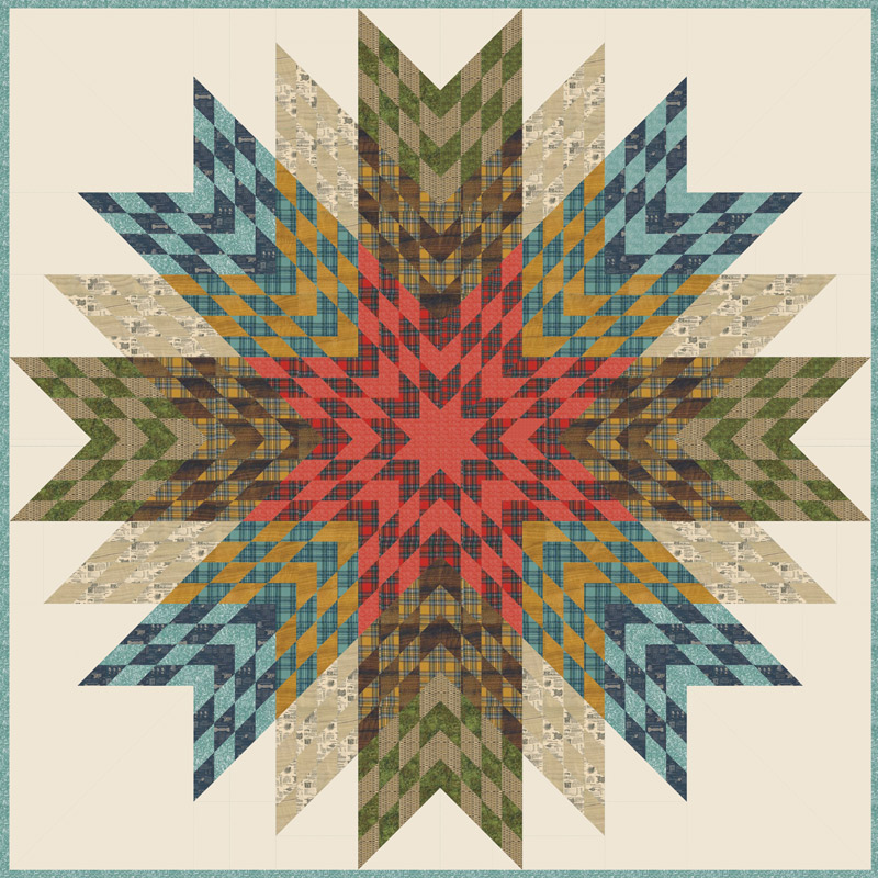 Moda Quilt Kit - Outdoorsy by Cathe Holden