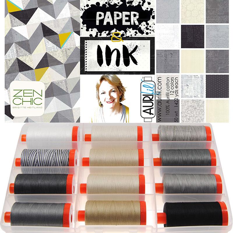 Paper Ink 50wt Aurifil Large Spools