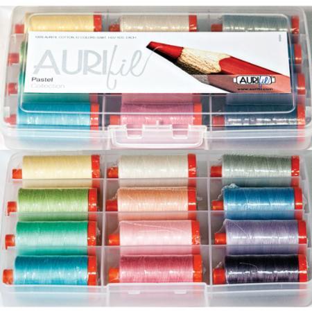 Pastel Collection 50wt Aurifil 12 Large Spools