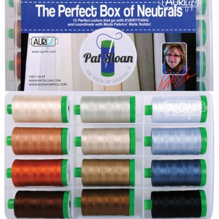 Perfect Box Of Neutrals Pat Sloan 40wt Aurifil