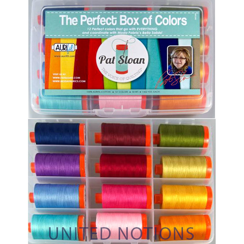Pat Sloan Perfect Box Of Colors 50wt Aurifil Large Spools