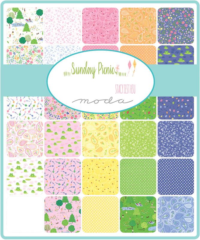 Moda Honey Bun - Sunday Picnic by Stacey Iest Hsu