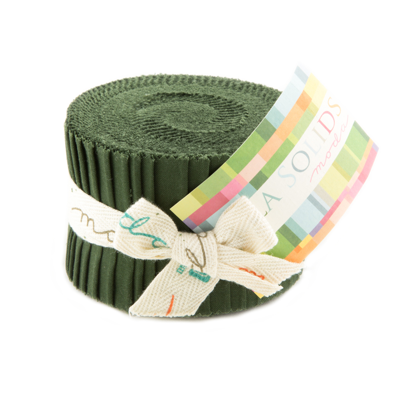 Solids Junior Jelly Roll - Pine 9900 43