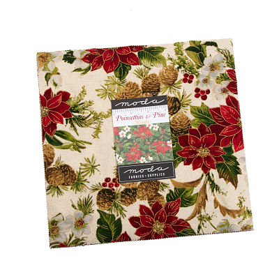 Moda Layer Cake - Poinsettias & Pine by Moda