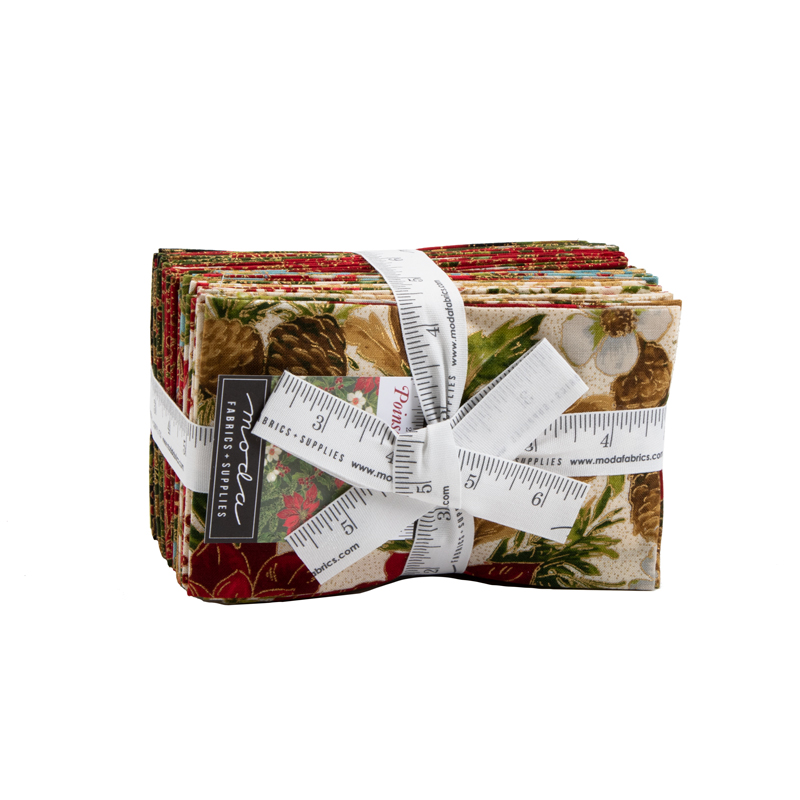 Moda Fat Eighth Bundle - Poinsettias & Pine by Moda