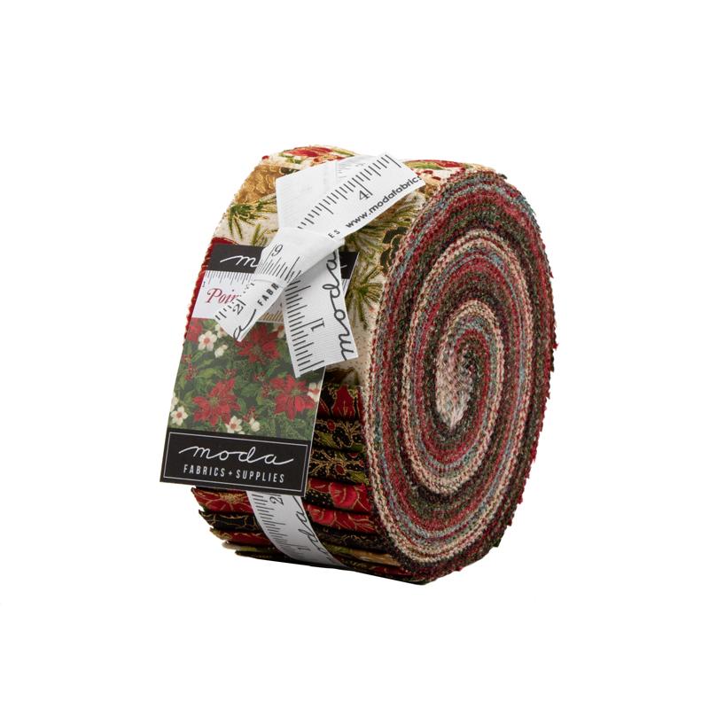 Moda Jelly Roll - Poinsettias & Pine by Moda