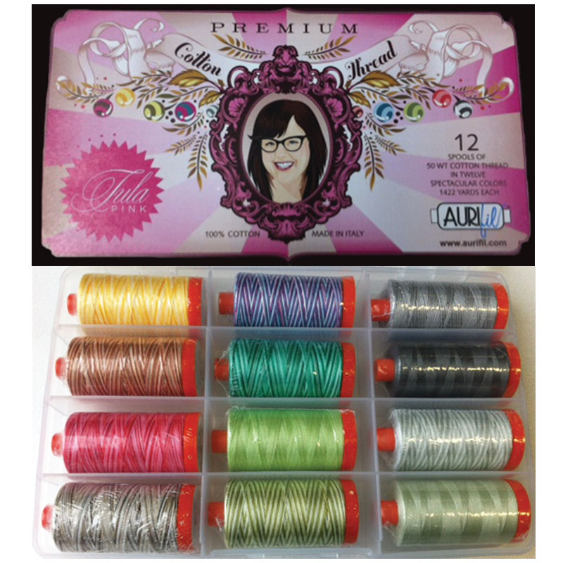 Premium By Tula Pink 50wt Aurifil Large Spools