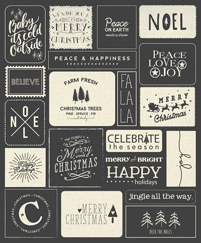 Moda Panel - Printworks Holiday - Christmas Black