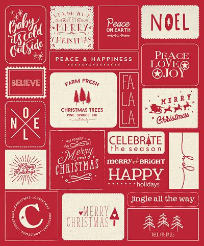 Moda Panel - Printworks Holiday - Christmas Red