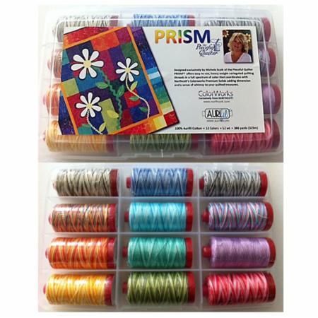 Prism Collection by Michele Scott 12wt Aurifil Large Spools