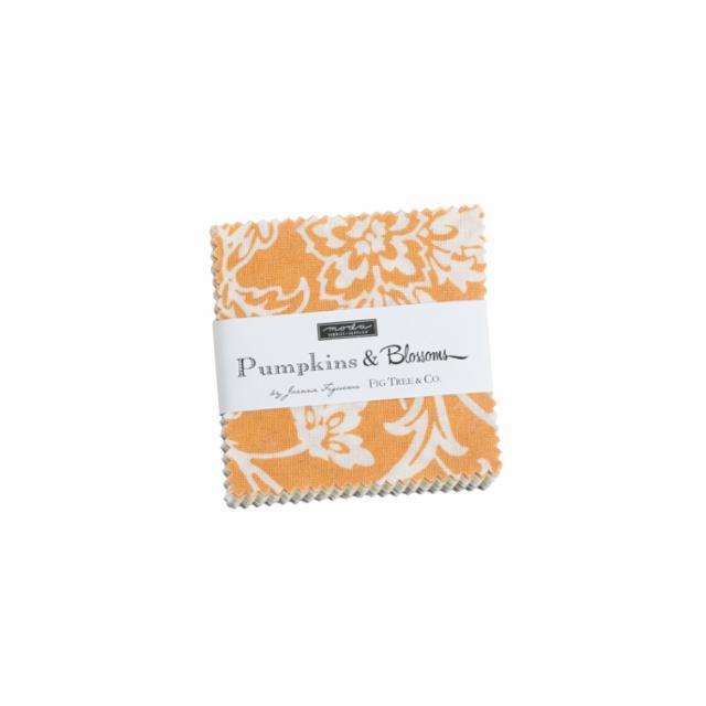 Moda Mini Charm - Pumpkins & Blossoms by Fig Tree & Co