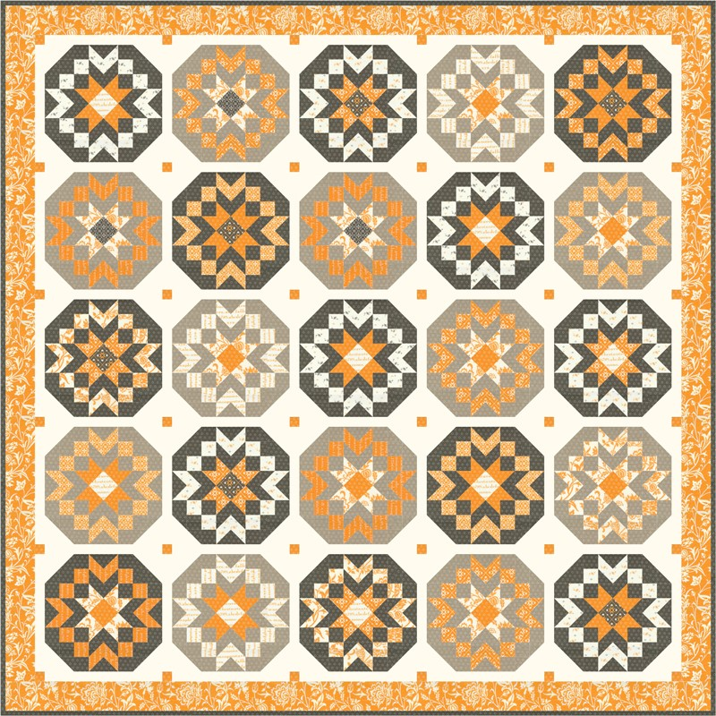 Moda Quilt Kit - Pumpkins & Blossoms by Fig Tree & Co