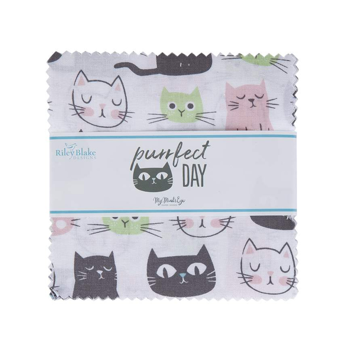 Riley Blake Charm Pack - Purrfect Day by My Mind's Eye