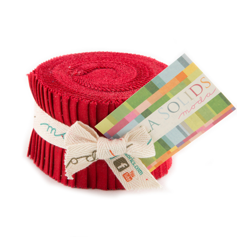 Solids Junior Jelly Roll - Red 9900 16