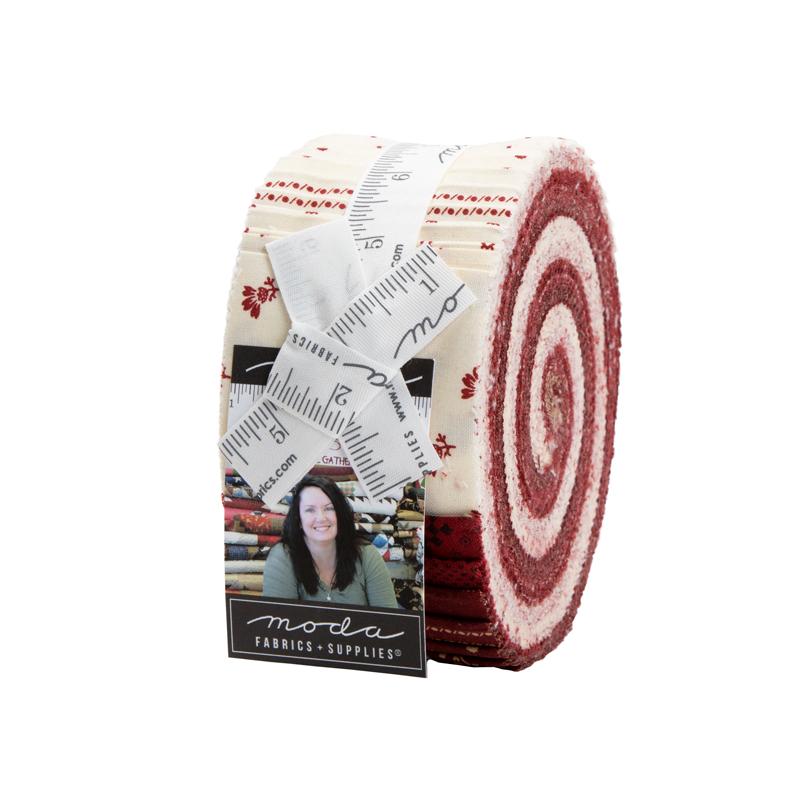 Moda Jelly Roll - Redwork Gatherings by Primitive Gatherings