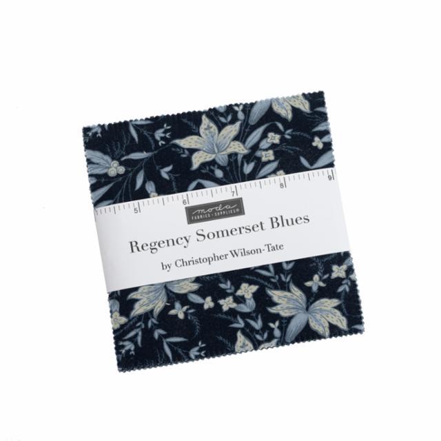 Moda Charm Pack - Regency Somerset Blues by Christopher Wilson Tate
